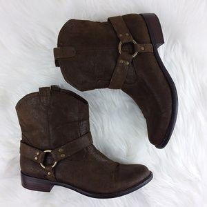 Boots Faux Soft Leather Moto Western Gypsy Boho